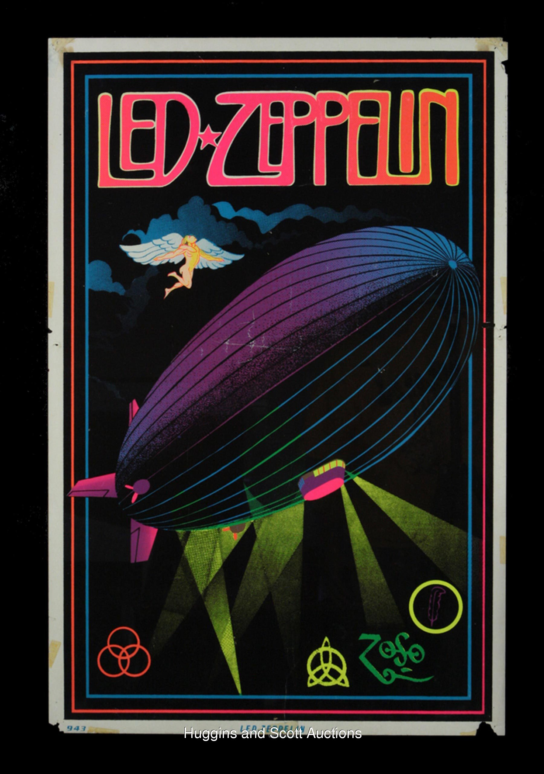 vintage black light music posters jpg 422x640