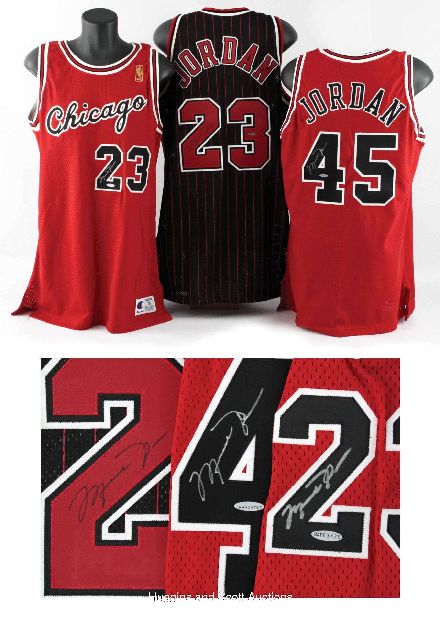 iblsmu 3) Autographed Michael Jordan Jerseys with Comeback Jersey